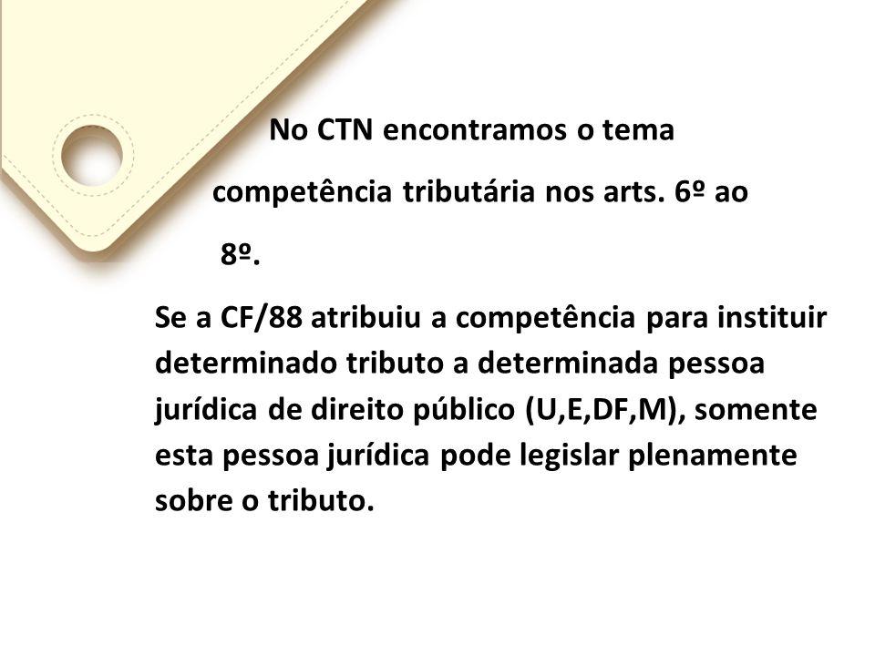 A Lei Complementar mais importante para o Sistema Tributário Nacional é o próprio CTN Sua evolução foi a seguinte: a)O nosso CTN foi publicado como Le