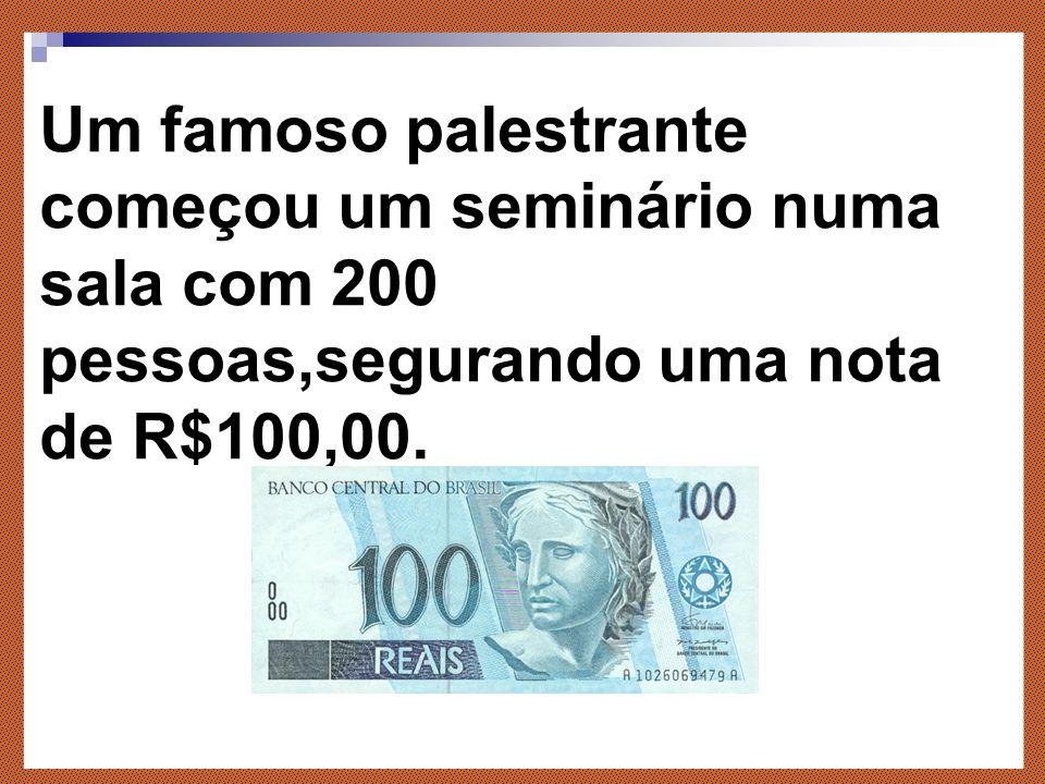 A nota de 100 reais