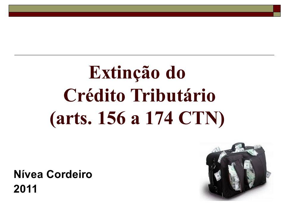 Extinção do Crédito Tributário (arts. 156 a 174 CTN) Nívea Cordeiro 2011