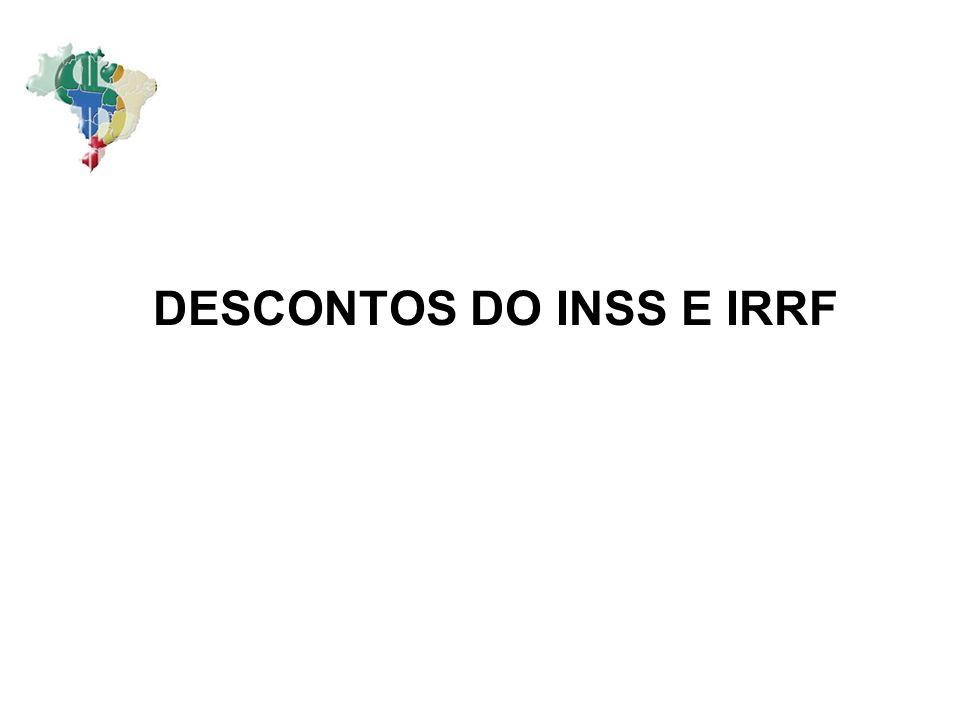 DESCONTOS DO INSS E IRRF
