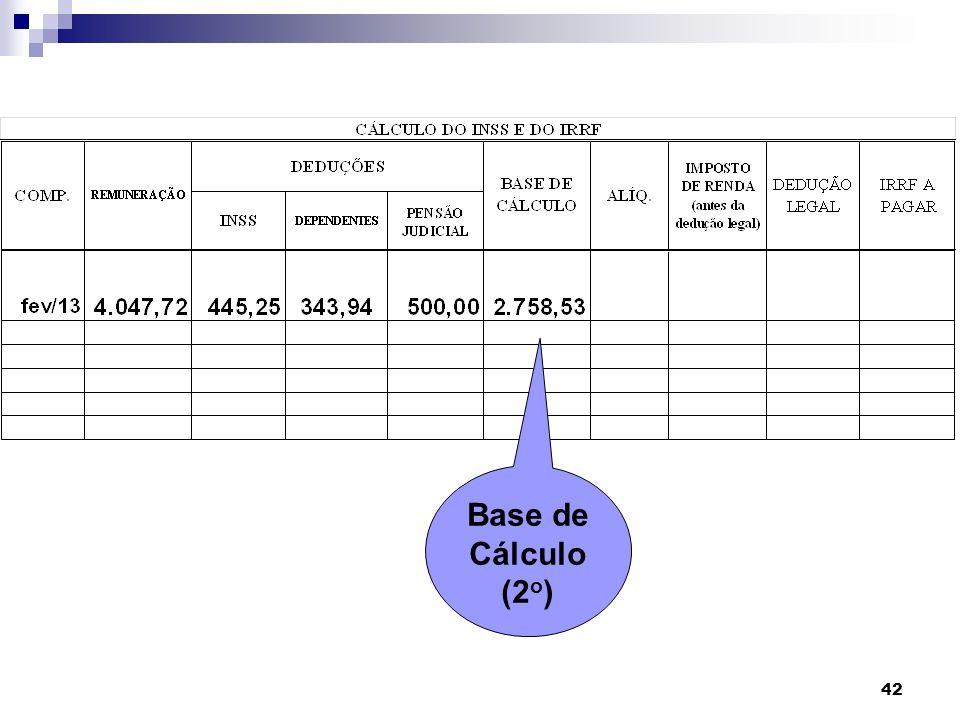 42 Base de Cálculo (2 o )