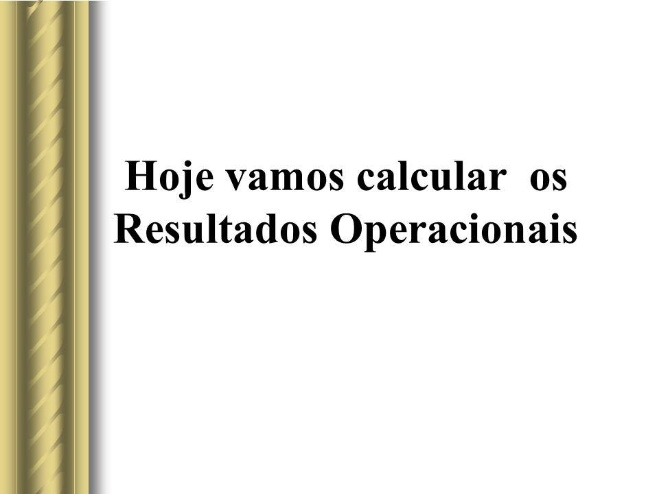 Hoje vamos calcular os Resultados Operacionais