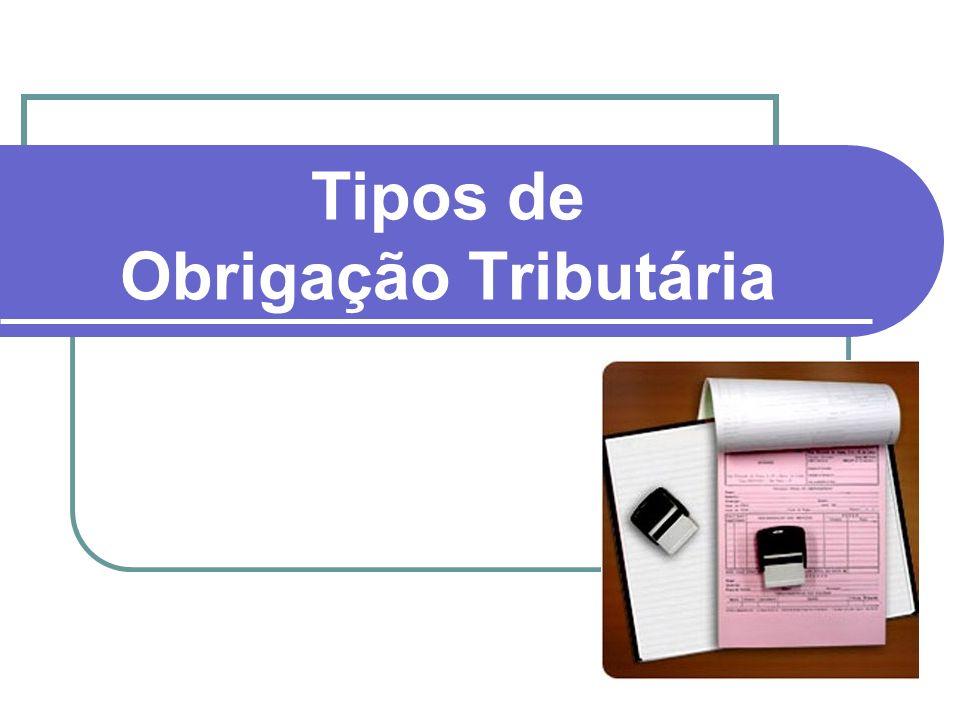 Os dois tipos de obrigação tributária estão previstos no art. 113 CTN: