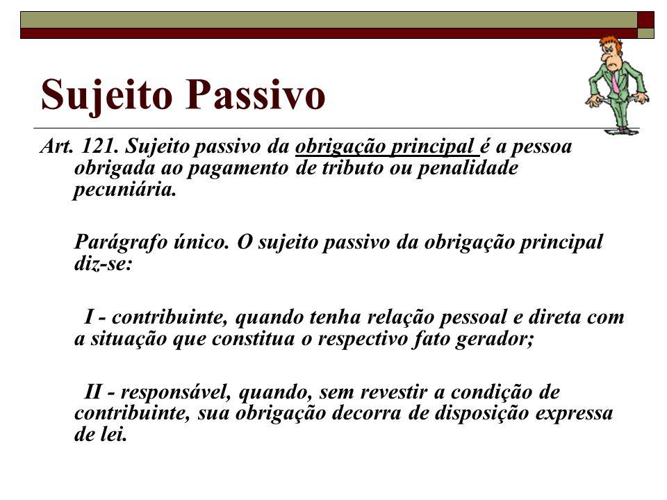 Sujeito Passivo Art.121.