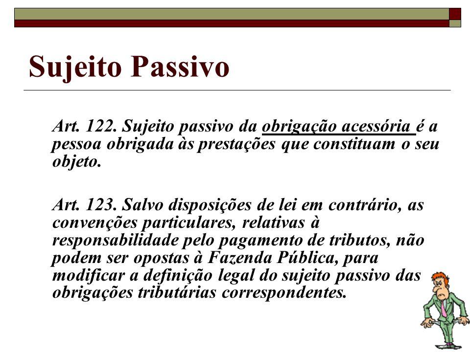 Sujeito Passivo Art.122.