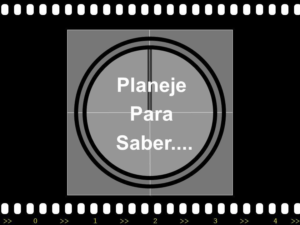 Planeje Para Saber....