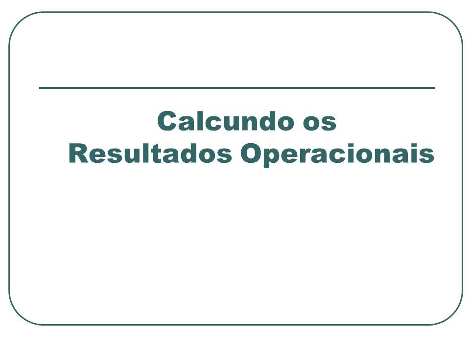 Calcundo os Resultados Operacionais