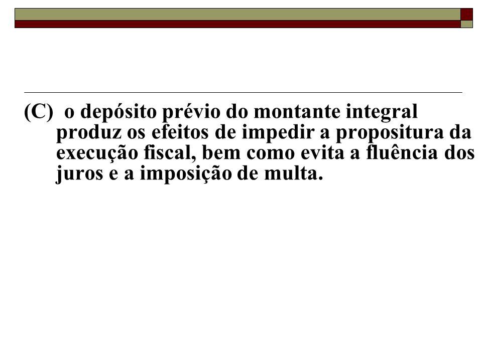55 - José dos Anjos ajuíza ação anulatória de débito fiscal após realizar depósito do montante integral do crédito que busca a anulação. Nesse sentido