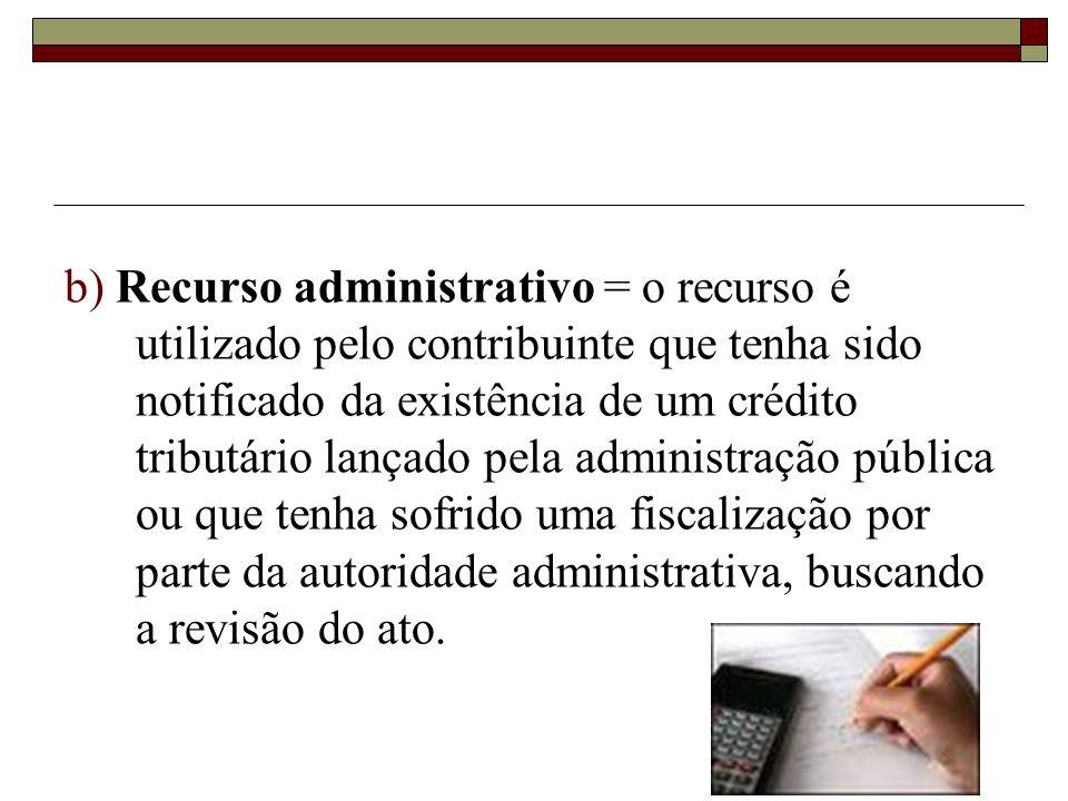 a) A consulta = é cabível quando não há qualquer procedimento por parte da administração pública no sentido de cobrar o tributo, porém o contribuinte