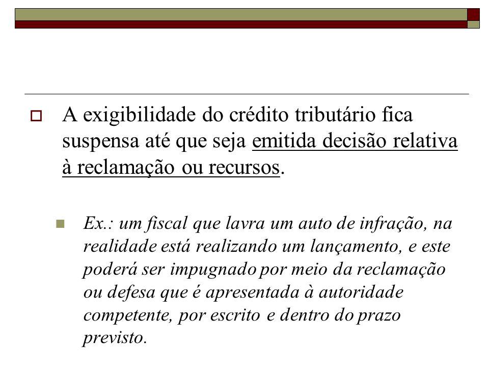 b) Recurso administrativo = o recurso é utilizado pelo contribuinte que tenha sido notificado da existência de um crédito tributário lançado pela admi
