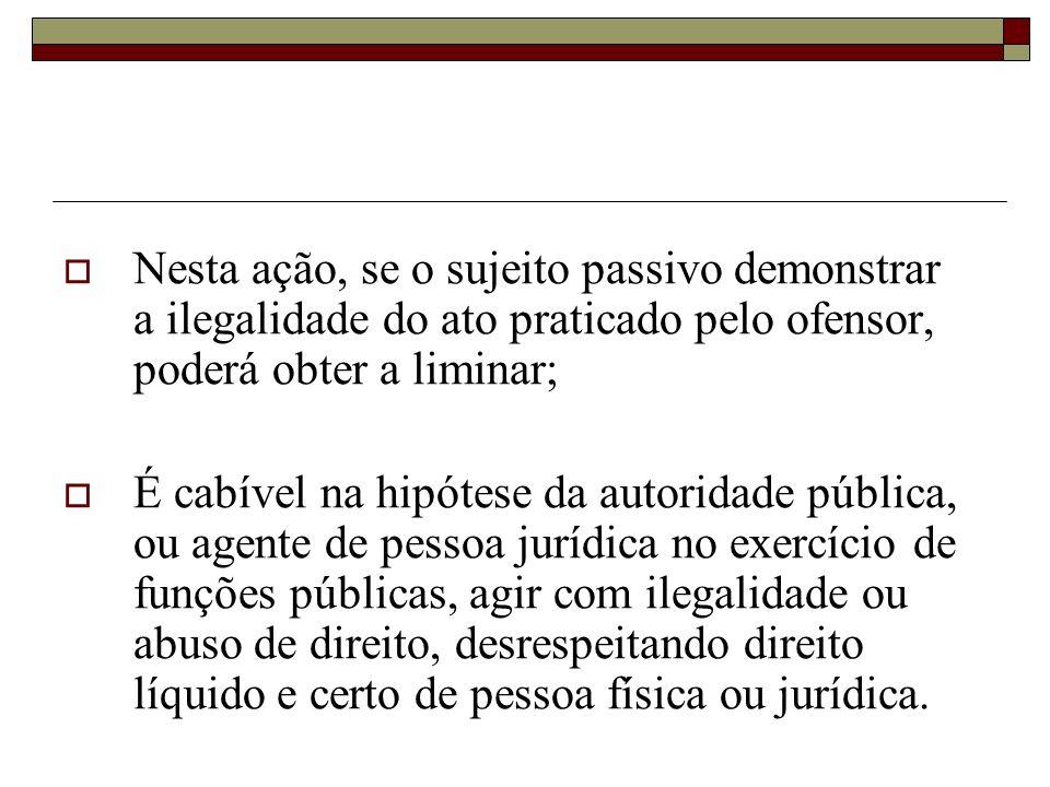 Concessão de medida liminar ou de tutela antecipada, em outras espécies de ação judicial (art. 151,V, CTN) Qualquer tutela (proteção) antecipada ou me