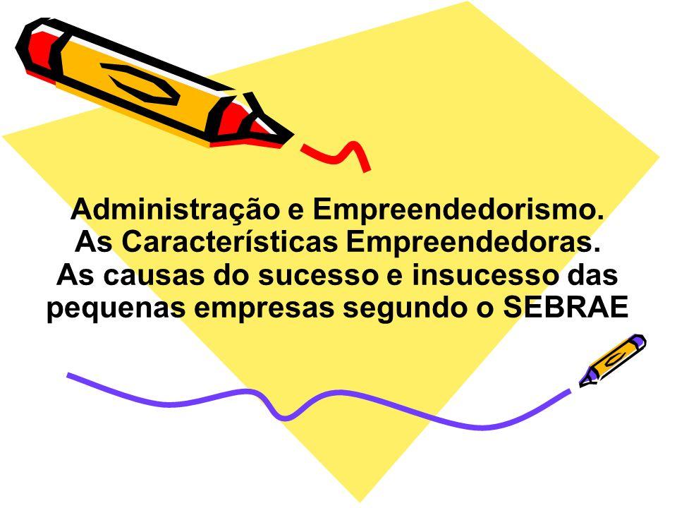 Administração e Empreendedorismo.As Características Empreendedoras.