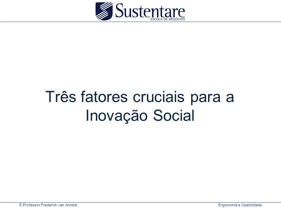 © Professor Frederick van Amstel Ergonomia e Usabilidade Três fatores cruciais para a Inovação Social