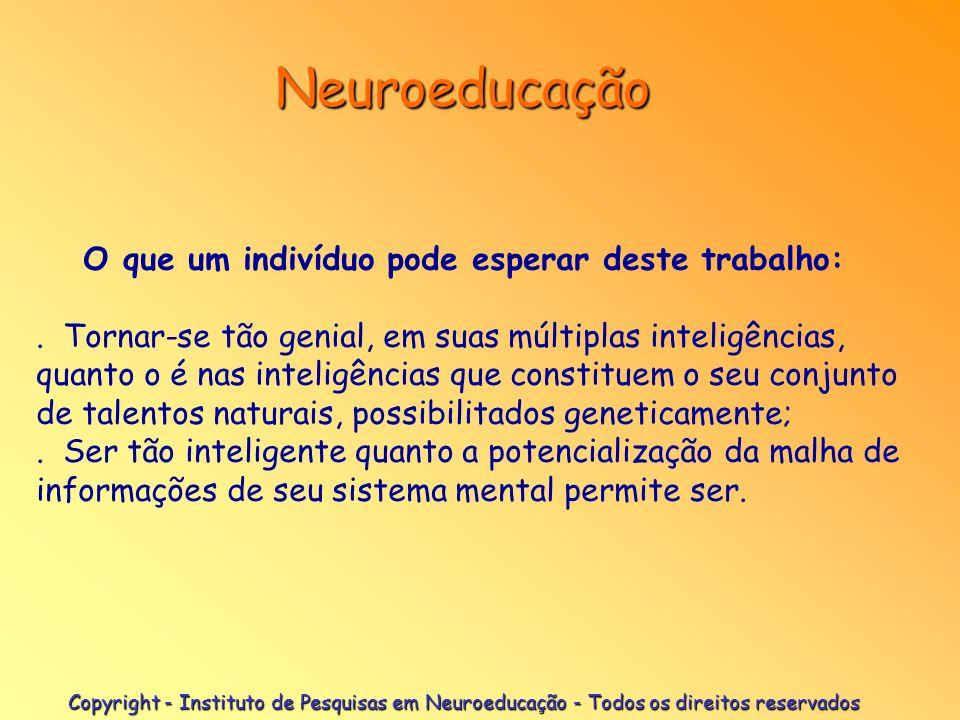 Copyright - Instituto de Pesquisas em Neuroeducação - Todos os direitos reservados Neuroeducação Condições de trabalho. A pessoa deve:. Estar com a pa