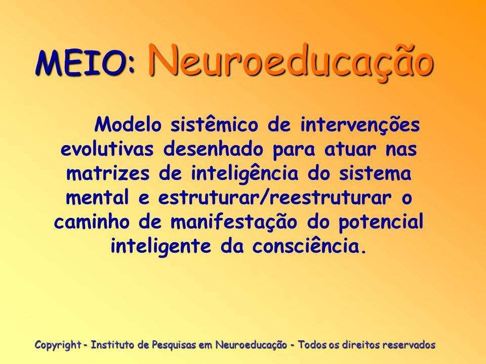 Copyright - Instituto de Pesquisas em Neuroeducação - Todos os direitos reservados É a capacidade de elaboração cognitiva da mente humana; atinge o se