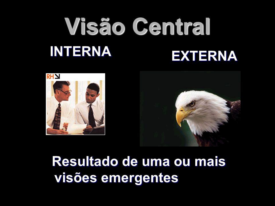 Visão Central INTERNA EXTERNA Resultado de uma ou mais visões emergentes Resultado de uma ou mais visões emergentes