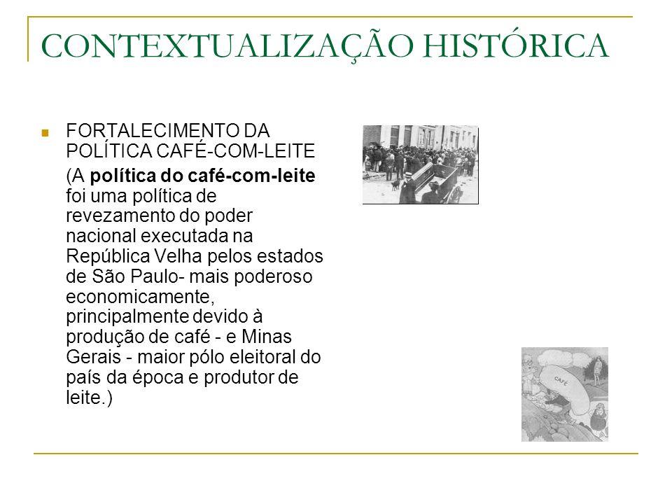 SURGIMENTO DA BURGUESIA INDUSTRIAL, PRINCIPALMENTE EM SÃO PAULO AUMENTO DO NÚMERO DE IMIGRANTES EUROPEUS (NOTADAMENTE OS ITALIANOS) DESCONTENTAMENTO DA BURGUESIA INDUSTRIAL COM A POLÍTICA FEDERAL VOLTADA PARA A PRODUÇÃO E A EXPORTAÇÃO DO CAFÉ