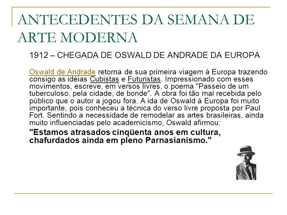 MANIFESTO PAU-BRASIL (...) A poesia Pau-Brasil.Ágil e cândida.
