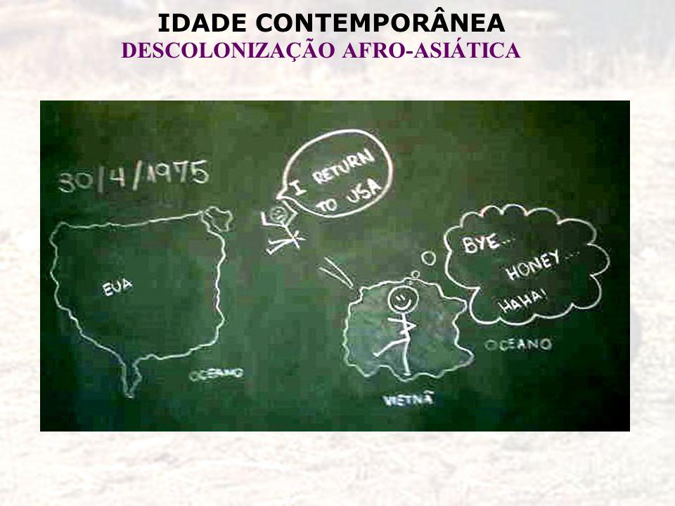 IDADE CONTEMPORÂNEA DESCOLONIZAÇÃO AFRO-ASIÁTICA