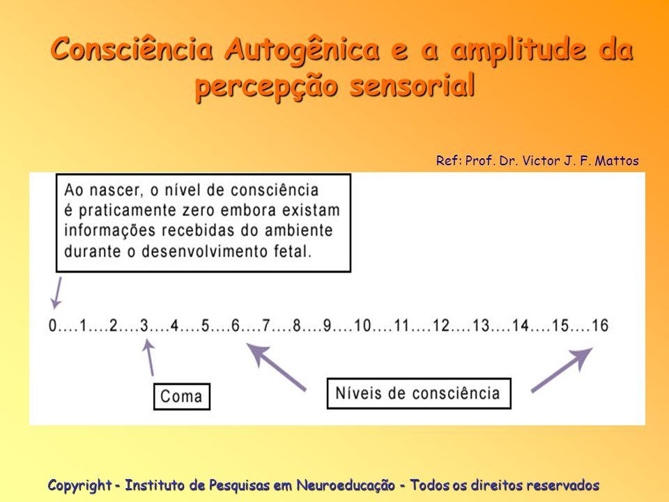 Copyright - Instituto de Pesquisas em Neuroeducação - Todos os direitos reservados Consciência Autogênica e a amplitude da percepção sensorial Consciê