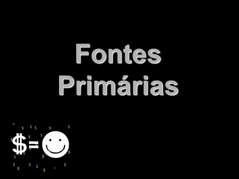 X Xx X x Fontes Primárias