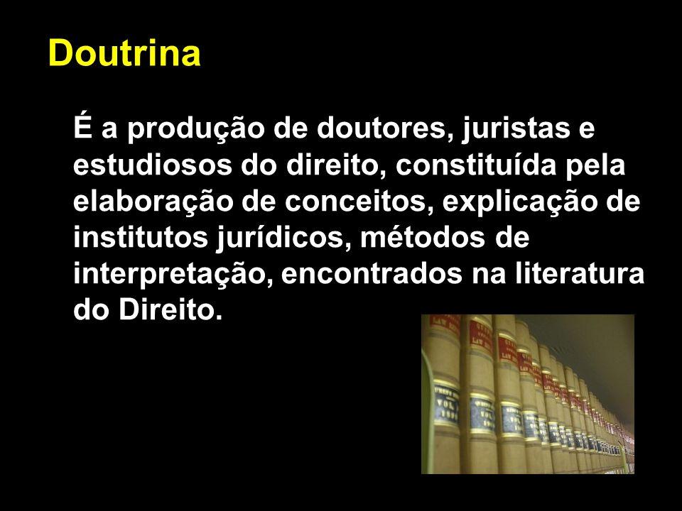 X Xx X x É a produção de doutores, juristas e estudiosos do direito, constituída pela elaboração de conceitos, explicação de institutos jurídicos, mét