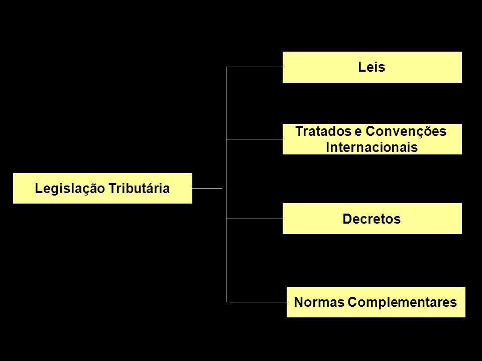 X Xx X x Legislação Tributária Leis Tratados e Convenções Internacionais Decretos Normas Complementares