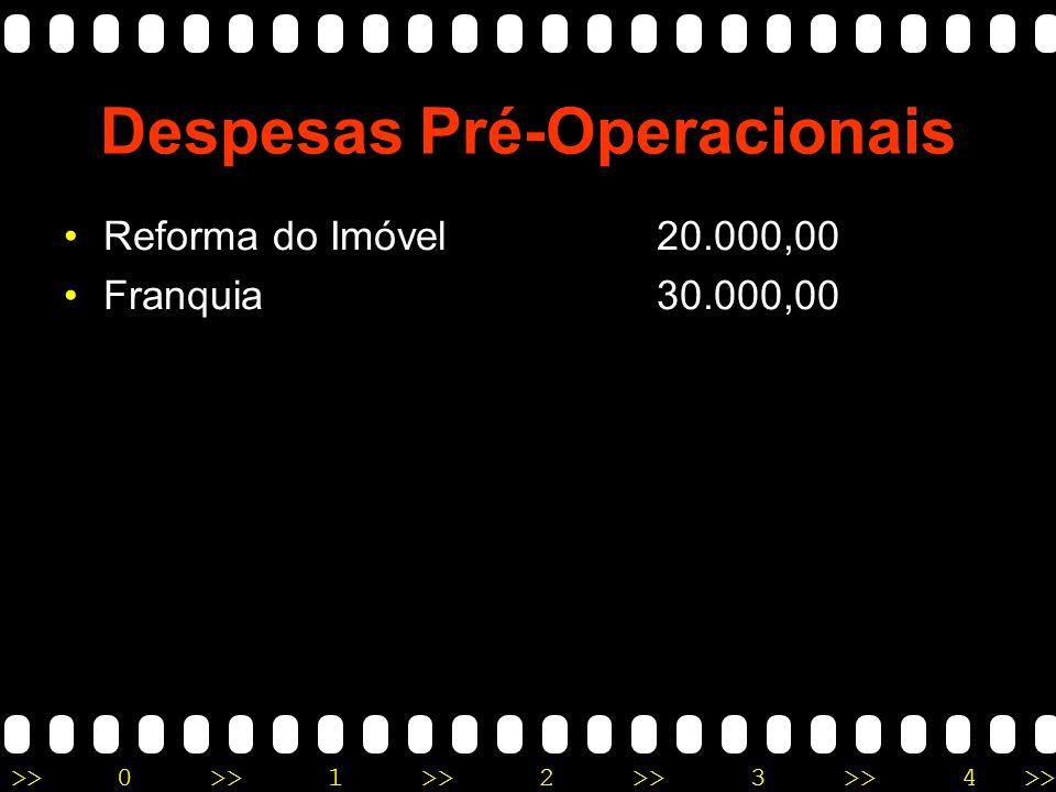 >>0 >>1 >> 2 >> 3 >> 4 >> Despesas Pré-Operacionais Reforma do Imóvel 20.000,00
