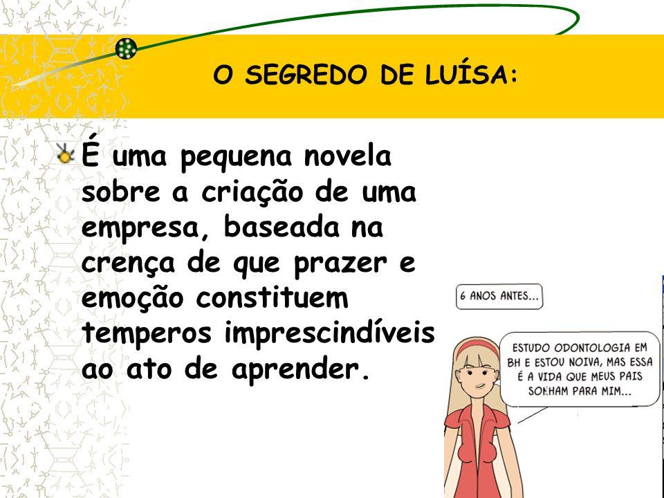 24 O SEGREDO DE LUÍSA: É uma pequena novela sobre a criação de uma empresa, baseada na crença de que prazer e emoção constituem temperos imprescindíveis ao ato de aprender.