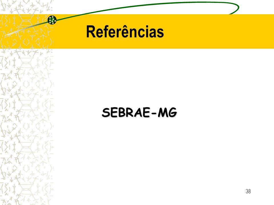 38 SEBRAE-MG Referências