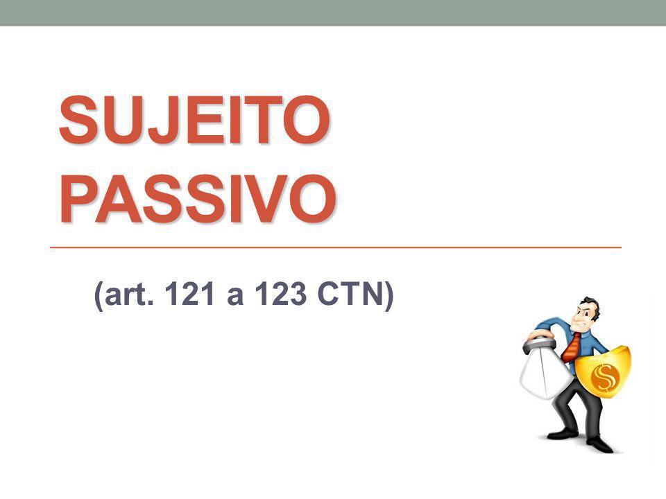 SUJEITO PASSIVO (art. 121 a 123 CTN)