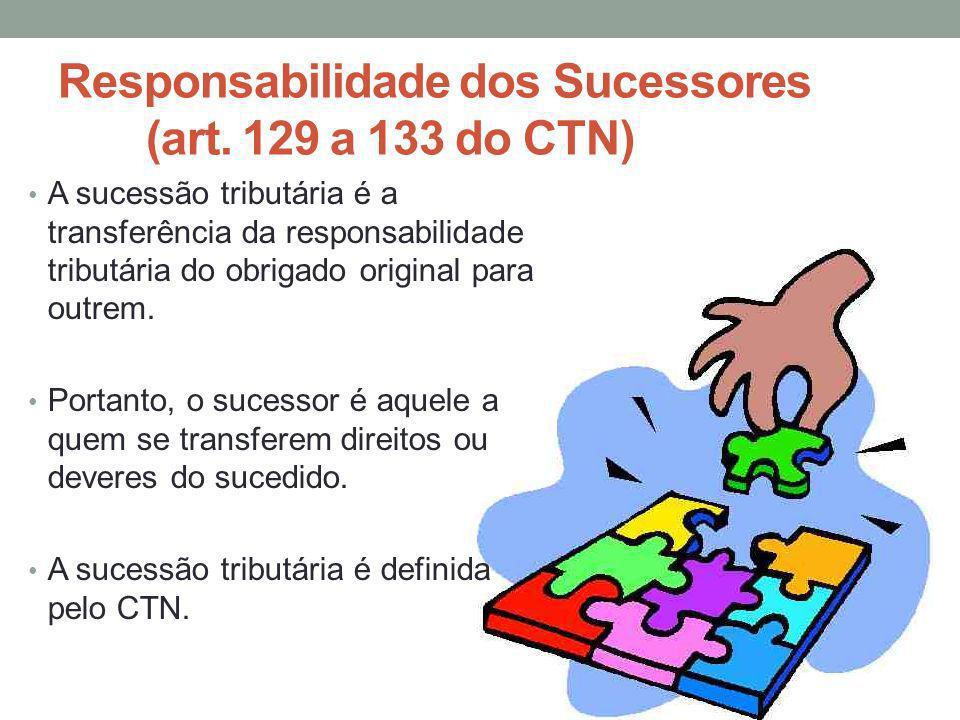 A sucessão tributária é a transferência da responsabilidade tributária do obrigado original para outrem. Portanto, o sucessor é aquele a quem se trans