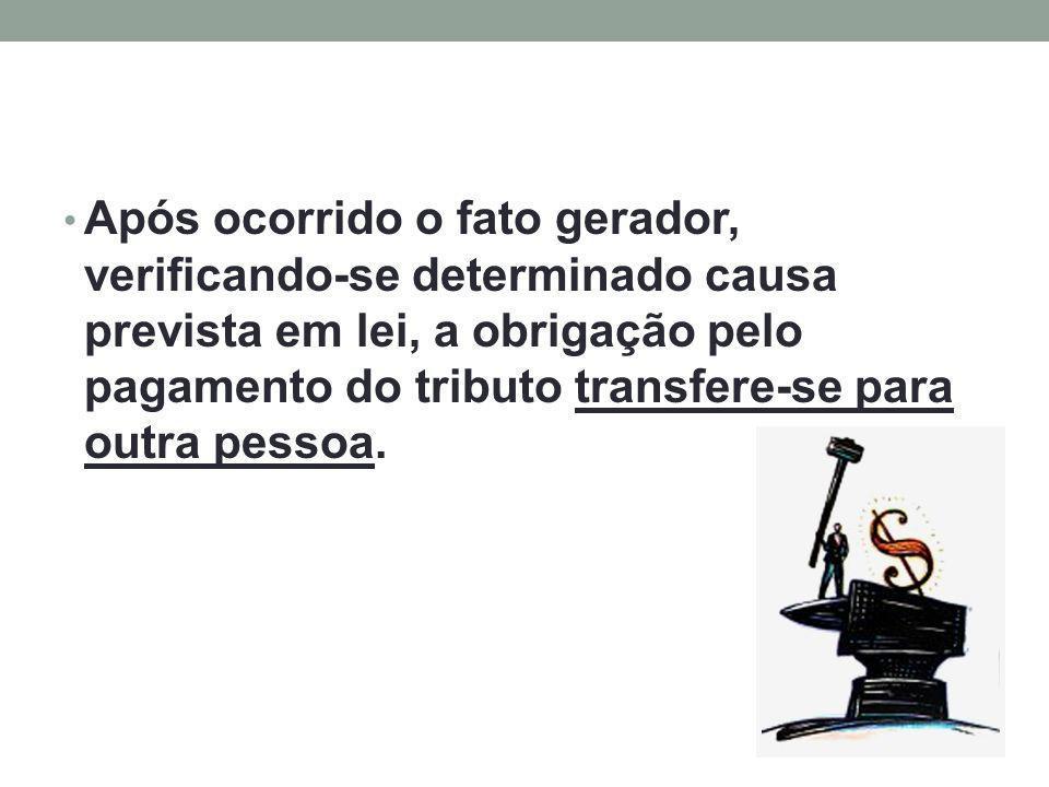 A sucessão tributária é a transferência da responsabilidade tributária do obrigado original para outrem.
