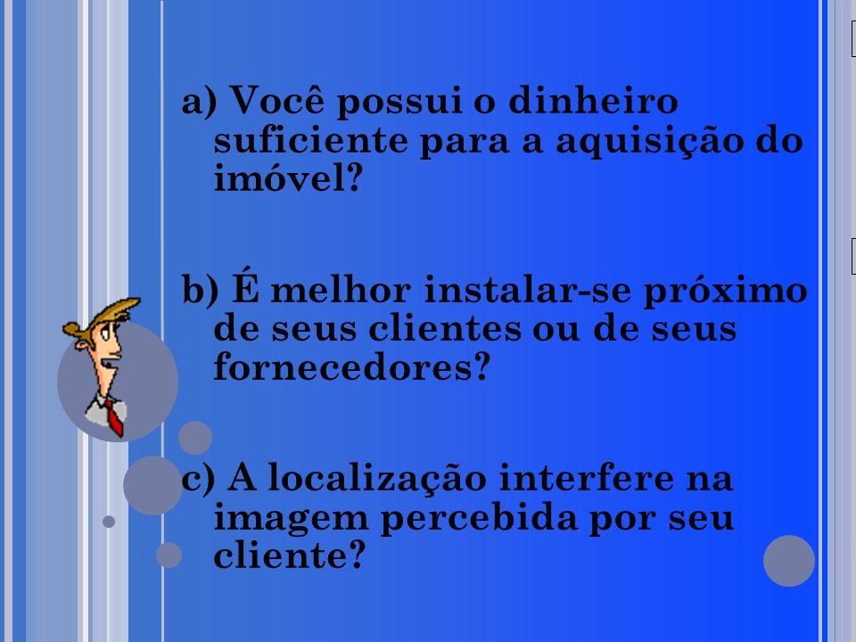 20/05/09 a) Você possui o dinheiro suficiente para a aquisição do imóvel.