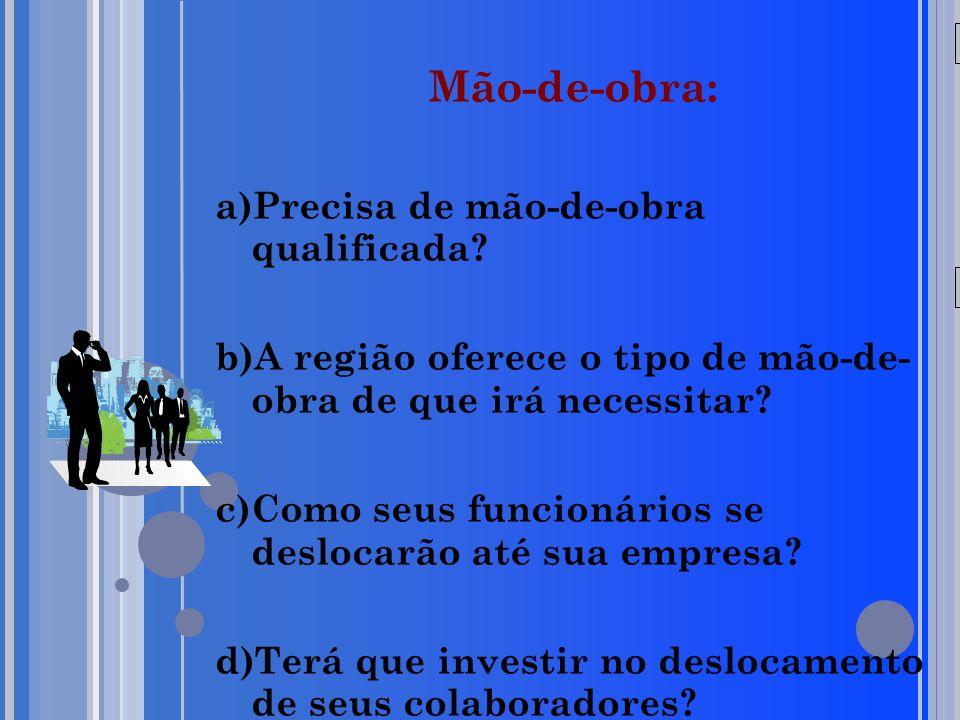 20/05/09 Mão-de-obra: a)Precisa de mão-de-obra qualificada.