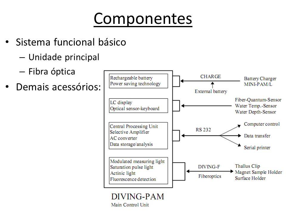 Componentes Sistema funcional básico – Unidade principal – Fibra óptica Demais acessórios: