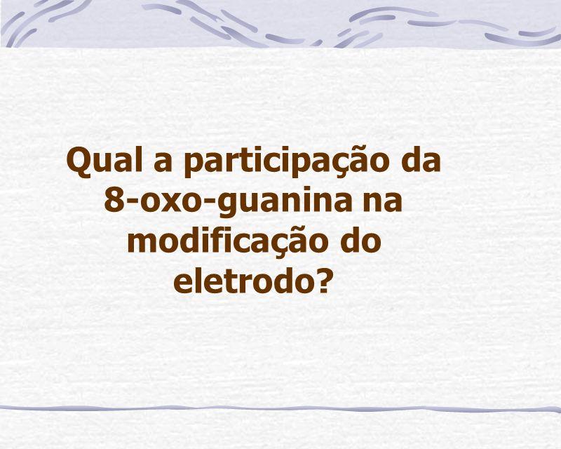 Qual a participação da 8-oxo-guanina na modificação do eletrodo?