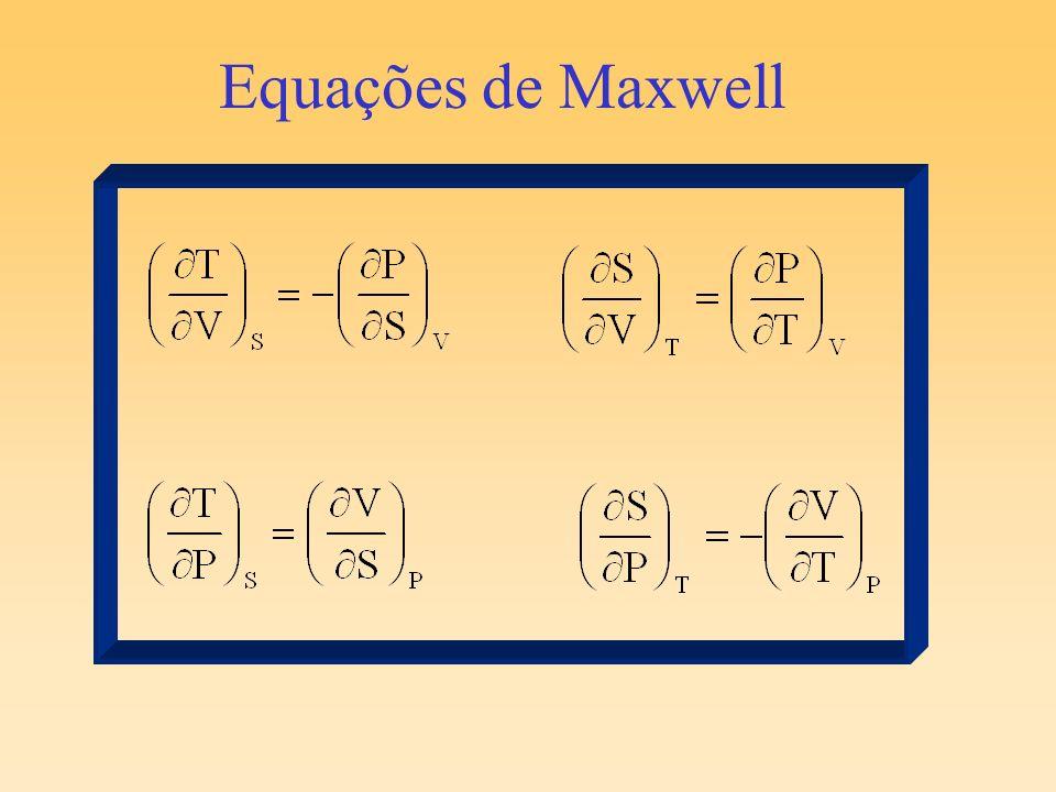 Com o aumento de T a entropia aumenta muito mais para um gás do que para um líquido do que para um sólido.
