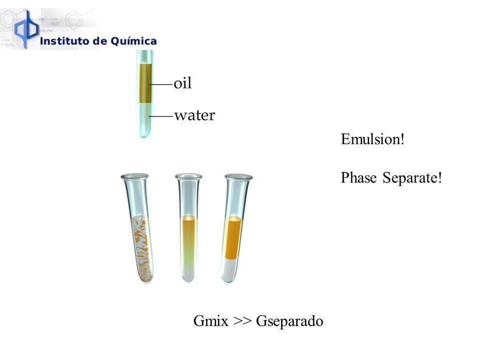 Gmix >> Gseparado Emulsion! Phase Separate!