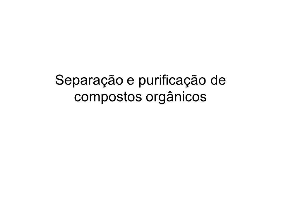 Separação e purificação de compostos orgânicos