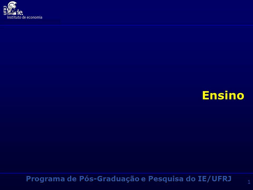 Programa de Pós-Graduação e Pesquisa do IE/UFRJ 11 Outras Informações Passagem direta do Mestrado para o Doutorado (Mudança de Nível) -Ao final do 3o.