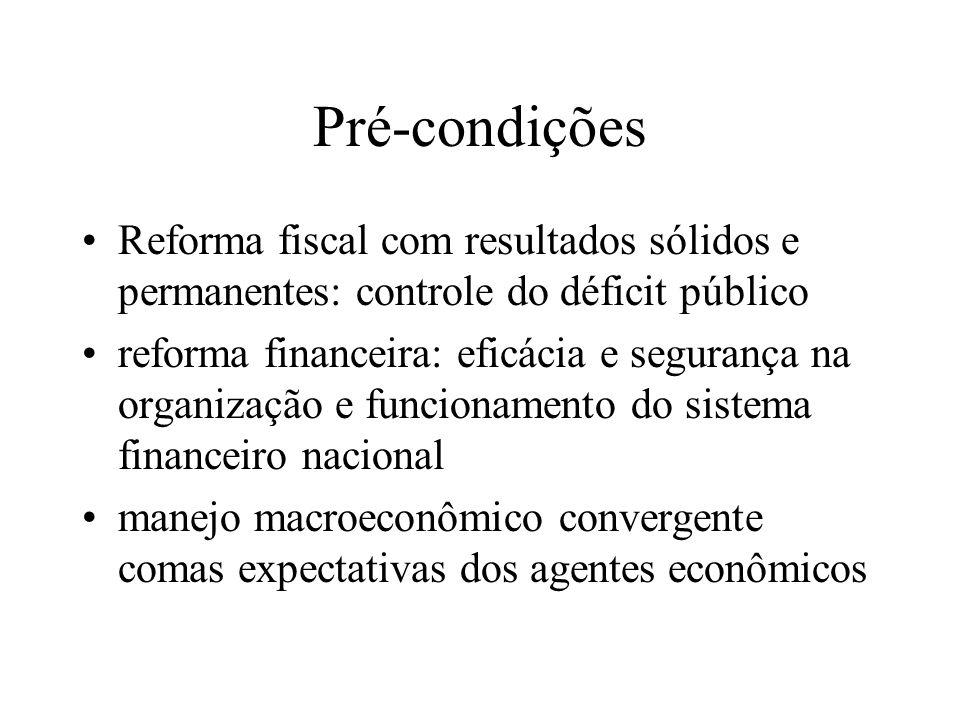 Brasil: Única pré-condição Eficaz aparato de regulação, supervisão e intervenção no sistema financeiro nacional, que tem como órgão executor o Bacen
