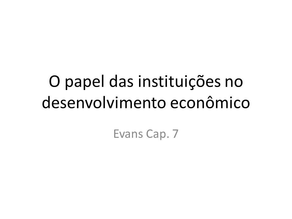 O papel das instituições no desenvolvimento econômico Evans Cap. 7