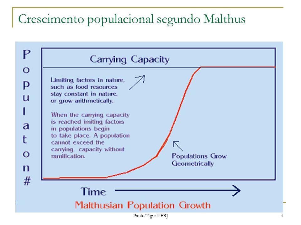 Crescimento populacional segundo Malthus 4 Paulo Tigre UFRJ