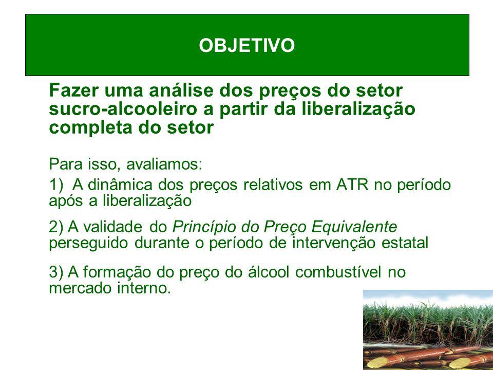 ELASTICIDADE DO PREÇO DE EQUILIBRIO DO ÁLCOOL COM RELAÇÃO AO PREÇO DA GASOLINA: RIO e SÃO PAULO (2001:07 - 2008:08) Médias: 0.64 (Rio) ; 0.54 (São Paulo)