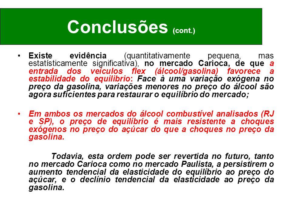 Existe evidência (quantitativamente pequena, mas estatísticamente significativa), no mercado Carioca, de que a entrada dos veículos flex (álcool/gasol