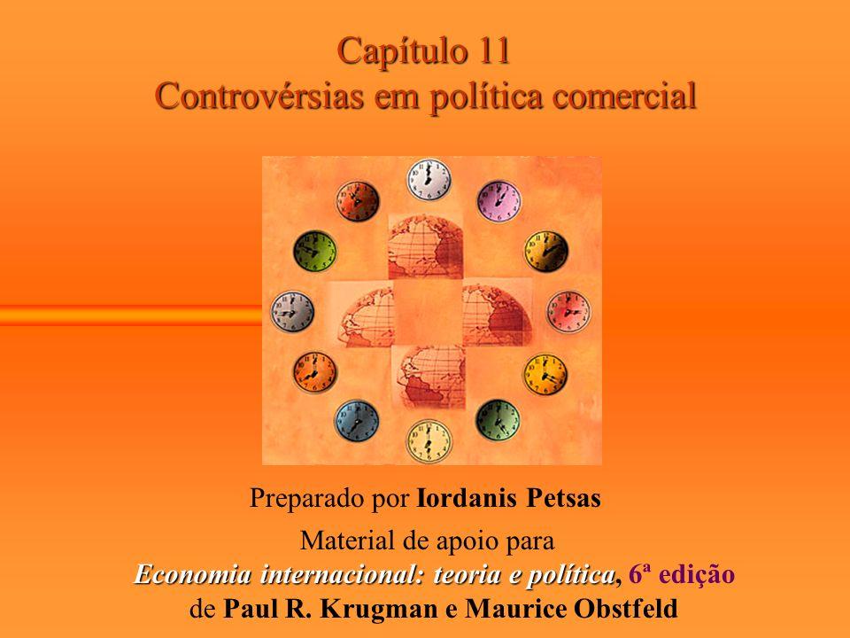 Capítulo 11 Controvérsias em política comercial Preparado por Iordanis Petsas Material de apoio para Economia internacional: teoria e política Economi