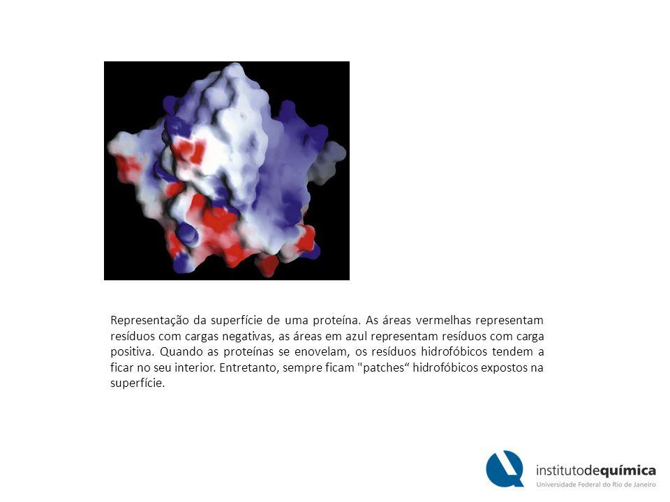 Representação da superfície de uma proteína.