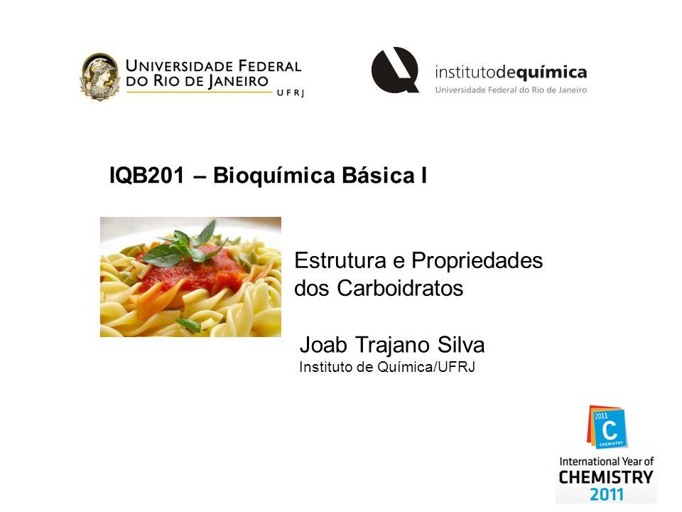 IQB201 – Bioquímica Básica I Estrutura e Propriedades dos Carboidratos Joab Trajano Silva Instituto de Química/UFRJ