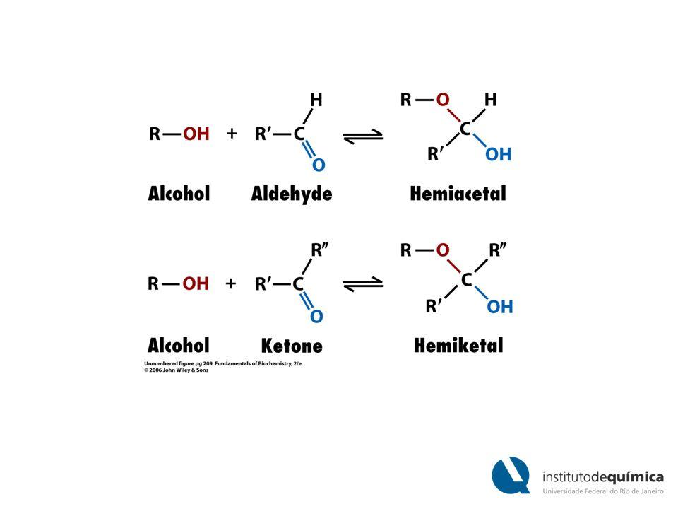 Suspensão de amilose em água adota uma conformação em hélice O iodo (I 2 ) pode se inserir no meio da hélice da amilose conferindo uma cor azul que é um diagnóstico característico para amido